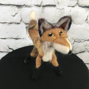 Mini Fox Plush Poseable Unique Folk Art Handmade